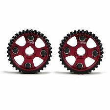 GOLDEN EAGLE ADJUSTABLE CAM GEARS SET FOR 90-01 HONDA/ACURA B16/B18/H23 RED