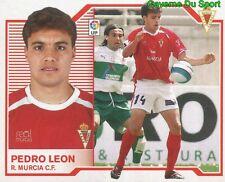 PEDRO LEON ESPANA REAL MURCIA.CF STICKER LIGA ESTE 2008 PANINI