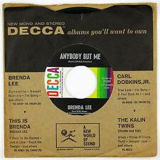 BRENDA LEE Any Body But Me/Fool #1 7IN 1961 ROCKABILLY NM-