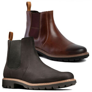 Mens Clarks Batcombe Up Casual Pull On Chelsea Dealer Boots Sizes 6.5 to 12