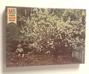 Vintage Puzzle 1981 Milton Bradley Life Series 500 piece - Child Reading Nature
