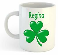 Regina - Shamrock Personalised Name Mug - Irish St Patricks Gift