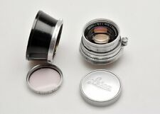 Earnst Leitz Leica 1954 5cm 50mm f2 Summicron Collapsible lens, filter EX ++