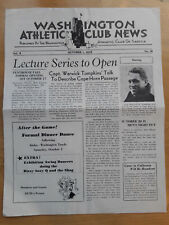 1938 WASHINGTON ATHLETIC CLUB NEWS WARWICK TOMPKINS MARGUERITE HARRISON 00101