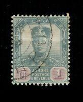 1904 Malaya Johore Sultan Ibrahim $1 Used Sc#68 SG70