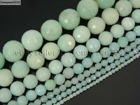 Natural Amazonite Gemstone Faceted Round Beads 15'' 2mm 4mm 6mm 8mm 10mm 12mm