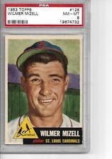 1953 Topps Baseball #128 Wilmer Mizell PSA