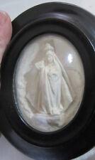 Cornice ovale Napoleone III - scultura in caolino - arte sacra - Madonna /Cristo