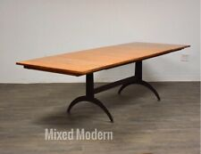 Ethan Allen Country Colors Maple and Steel Dining Table