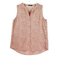 Portmans Women's Size 14 Pink Leopard Print Sleeveless Casual Blouse Top