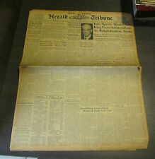 1930 New York Herald Tribune Newspaper Bill Tilden Davis Cup Tennis Gehrig Hr