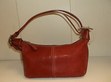 Authentic Red Leather Coach Legacy Convertible Hobo Bag # 9564