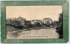 FERGUS FALLS, Minnesota  MN   River Scene from UNION AVENUE  c1910s  Postcard