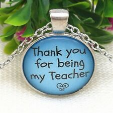 Silver Necklace TEACHER SCHOOL STUDENT Pendant women chain key Free $10 GIFT