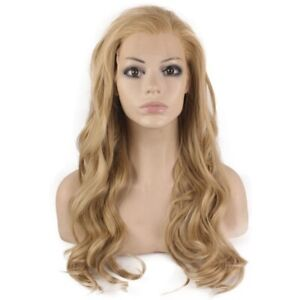 Long Wavy Ash Blonde Lace Front Heat Resistant Synthetic Hair Wig