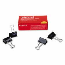 Universal Medium Binder Clips Steel Wire 58 Cap 1 14 Wide Black 12 Count