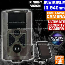 Wireless Security Solar Camera Trail Cam IR Motion Activated 1080P No Spy Hidden