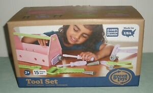 Green Toys 15 Piece Tool Set Pink New Ages 2+