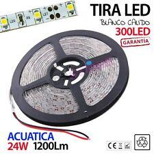 Tira Led 300 leds 3528 Blanco Cálido 5m 60 Led/metro EXTERIOR acuatica SMD