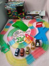 MAGIC TRACKS CAR RACING SET & TUNNEL ACCESSORY KIT & EXTRA CARS!