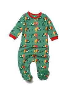 Little Green Radicals Organic Starry Eyed Elephant Babygrow all In One 9 - 12