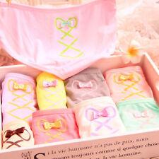 Wholesale Women's 12pcs Color Random Pants Bow Cotton Cartoon Briefs Underwear