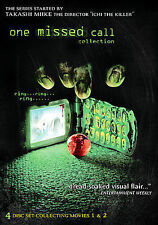 NEW - One Missed Call 4 disc DVD Set: Movies 1 & 2. Includes Special Features