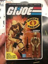 Gi Joe Cobra 1983 Desert Soldier Trooper Black Major L👀k Unpunched Carded