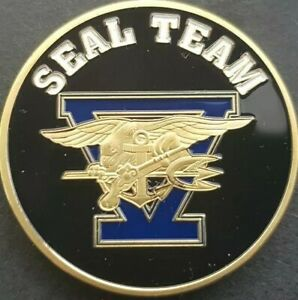 SEAL TEAM 5 Challenge Coin FREE COIN STAND AND BRAND NEW FITTED COIN CAPSULE
