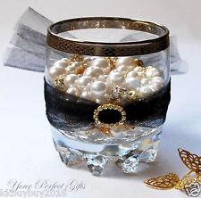 12 OVAL Gold Wedding Diamante Rhinestone Invite Buckles
