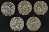 1963-1967 Elizabeth II Two Shilling Coins Date Run | Bulk Coins | Pennies2Pounds