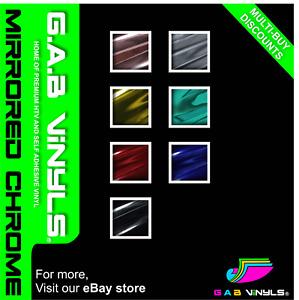 Mirrored Chrome Self Adhesive Vinyl - Permanent Vinyl - G.A.B Vinyls - A4 Sheet