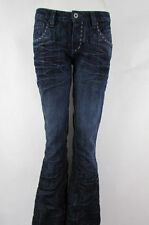 Antik Denim Women Low Rise Flared Blue Wash Boot Cut Fashion Jeans Size 24W 34L