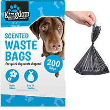 200 x Doggy Bags Scented Dogs Dog Puppy Poo Waste Poop Disposal Easy Tie Handle