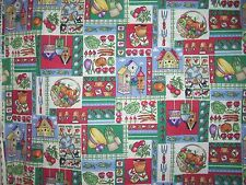 New listing Vintage Cotton Fabric Gardening Items Patchwork Fabric Tradition 2yards