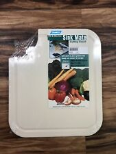 """Camco 43859 Sink Mate 12-1/2"""" x 14-1/2"""" Almond Cutting Board with Grooves - 1pk"""