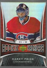 07/08 Trilogy Rookie Premieres RC Carey Price /999 154 Canadiens