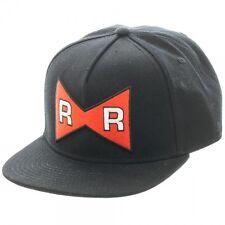 Dragon Ball Z Red Ribbon Army Logo Black Snapback Cap Hat Anime Licensed NEW!