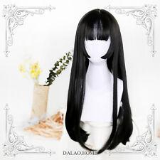Girl Cospaly Black Gradient Wig Harajuku Princess Lolita Woman Straight Hair