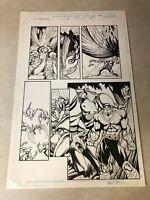POWER MAN original art Marvel DR DEMONICUS STINGRAY Signed BART SEARS