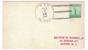 USS DETROIT CL-8 AUG 3, 1941