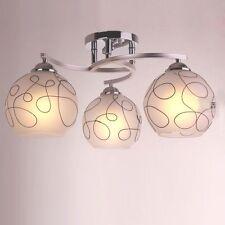 Modern White Glass Bedroom Ceiling Lamps Living Room Chandelier Fixtures Lights