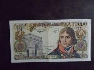 BILLET de 10000 francs BONAPARTE du 07/11/1957 - TB