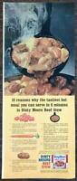 1964 Dinty Moore Beef Stew Print Ad !0 Reasons Its The Tasiest Hot Meal in 6 Min