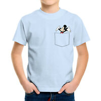 Happy Mickey Mouse in Pocket Unisex Toddler Kids Boy Girl Top Tee Youth T-Shirt