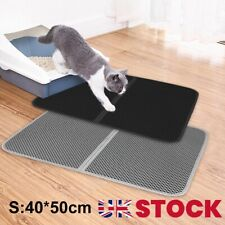 More details for foldable double-layer cat litter mat waterproof pad pet rug foam trapper