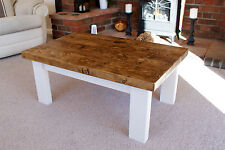 COTTAGE STYLE COFFEE TABLES - HANDMADE SOLID WOOD RUSTIC - choice of finishes