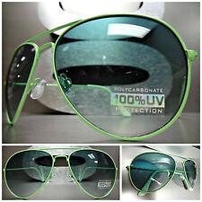 Men's or Women CLASSIC VINTAGE RETRO SUNGLASSES Pastel Green Frame & Green Lens
