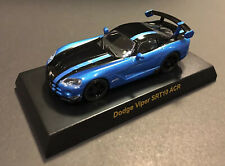 Kyosho 1/64 USA SPORTS CAR Dodge Viper SRT10 ACR BLUE Diecast Car Model