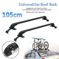 2Pc Universal Car Roof Rack Aluminum Adjustable Cross Bar Luggage Carrier +